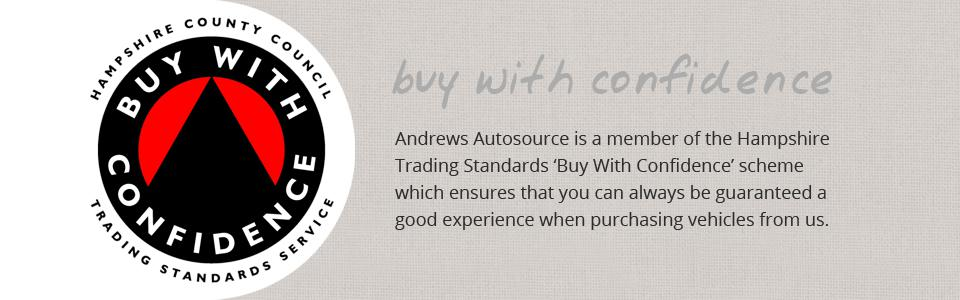 Andrews Autosource is a member of the 'Buy With Confidence' scheme